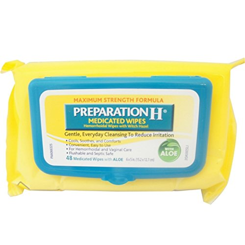 Preparation H Medicated Wipes 48 Ea (Pack Of 7) by Preparation H
