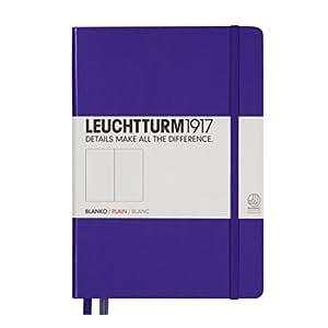 Leuchtturm1917 Notebook A5 Medium Plain / Blank Hardcover Purple / Lilac