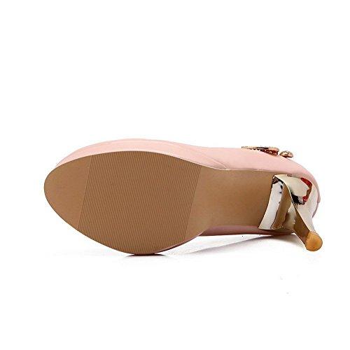 Inconnu 1TO9 pour femme à enfiler Metalornament Banquet en caoutchouc Pumps-shoes Rose dYr4cb