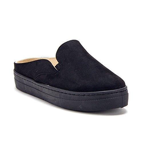 Jaime Aldo Womens Slip on Open Back Platform Slides Mule Sneakers Shoes