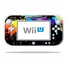 Mightyskins Protective Vinyl Skin Decal Cover for Nintendo Wii U GamePad Controller wrap sticker skins Splatter