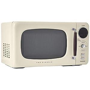 Daewoo KOR07R3ZEC 0.7 cu. ft 700W Retro Countertop Microwave Oven, Cream 10