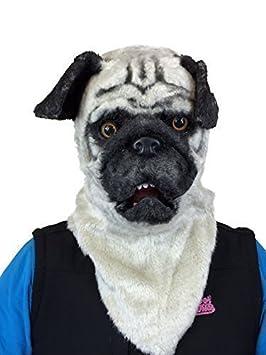 Mascara Deluxe de Pug con boca movible calidad disfraz stag fiesta