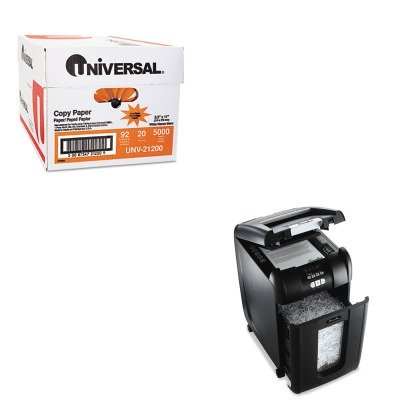 KITSWI1757576UNV21200 - Value Kit - Swingline Stack-and-Shred 250X Hands-Free Micro-Cut Shredder (SWI1757576) and Universal Copy Paper (UNV21200)
