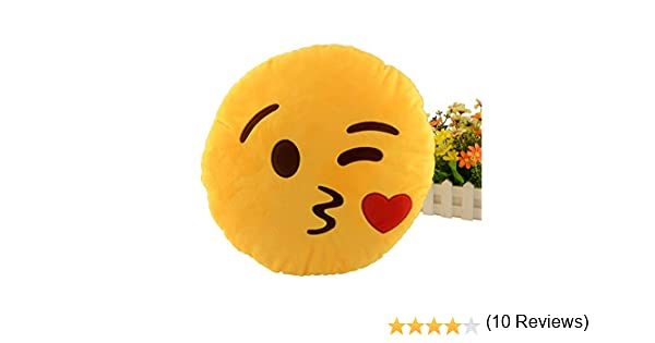 Miryo-Cojín con diseño de emoji Emoticonos Emoticones beso ...