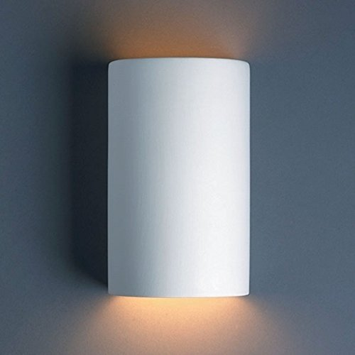 Justice Design CER-0945-BIS, Ambiance Ceramic Wall Sconce Lighting, 150 Watts, Bisque