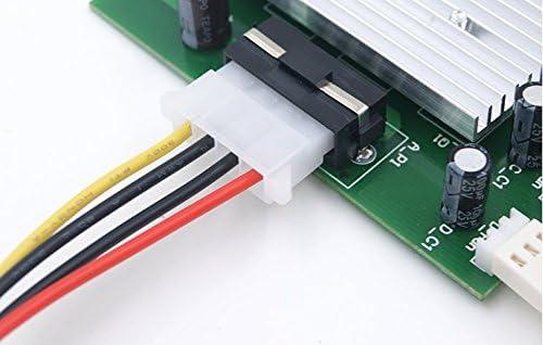 JXSZ PC Cooling Radiator System 4 Channel 3 pin//4 pin Cooler Fan RPM Speed Controller PCI Slot Rear Bracket Turn On//Off Fan