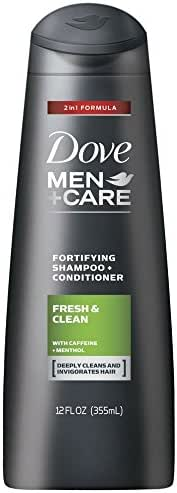 Dove Men+Care 2 in 1 Shampoo and Conditioner Fresh and Clean 12 oz(Pack of 6)