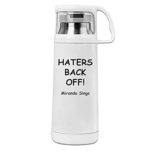 Yesher HATERS BACK OFF Thermos Cup Mug With A Handle Vacu...