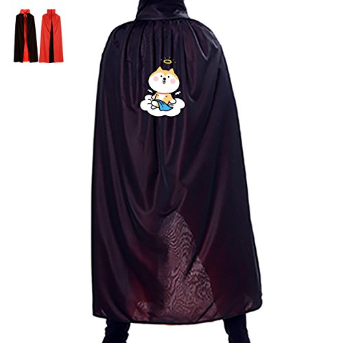 Homemade Angel Halloween Costumes Women (Angel Puppy Cartoon Reversible Halloween Cape Vampire's Cowl 35.5(in))