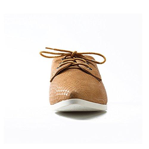 Zapatos cordones Albaricoque de mujer Leroy para Alexis Derby 0xwITnE