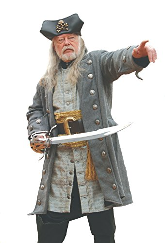 Museum Replicas Grey Wool Pirate Coat LARGE