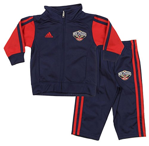 Adidas Nba Track Jacket - NBA Little Boys Infants Full Court Track Jacket Pants Set, Various Teams (New Orleans Pelicans, 24 Months)
