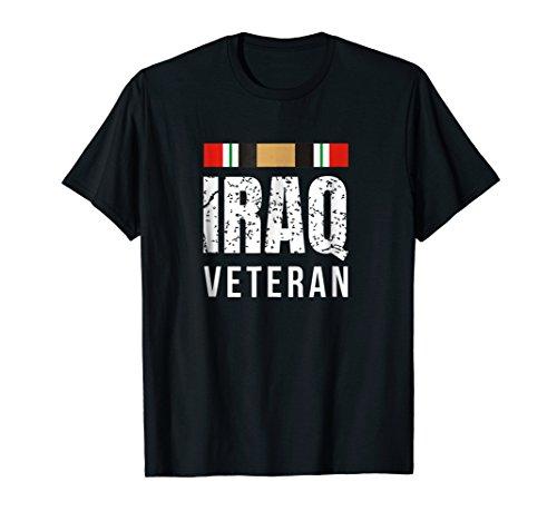 Iraq Veteran T-Shirt Iraq War Service Ribbon Tshirt
