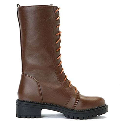 Up Media Botas Mujer Lace Casual Marron Melady TtzXwqT