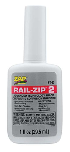 Pacer Technology (Zap) Rail-Zip 2 Track Cleaner and Corrosion Inhibitors, 1 oz