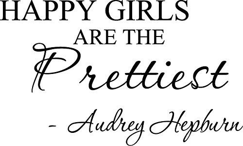 prettiest. Audrey Hepburn. Vinyl wall art Inspirational quotes and saying home decor decal sticker ()
