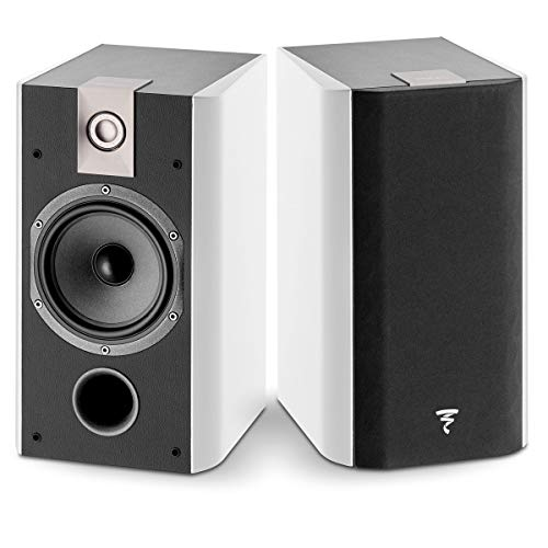 (Focal Chorus 706 2-Way Bass Reflex Bookshelf Speakers - Pair (White Piano Lacquer))
