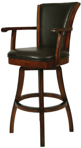 (Impacterra QLGL217249867 Glenwood Swivel Stool with Arms, 30