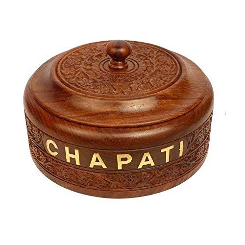 Indian crafts idea kasmiri work chapati box with stainless steel inner part 7x7 inches,Indian roti box,Tortilla pancake keeper,Housewarming gift idea, Jewelry Box, Masala (Spice)Box, Dabba, ()