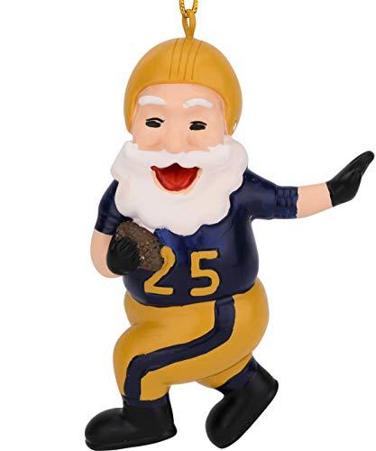 Tree Buddees Touchdown Santa Christmas Sports Football Ornament (Gold & Blue)]()
