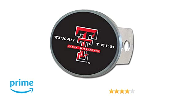 Texas Tech Red Raiders Trailer Hitch Receiver Cover Metal Oval Class II /& III