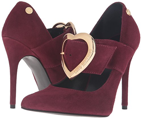 Love Moschino Women's Heel Dress Pump, Oxblood, 40 EU/10 M US by Love Moschino (Image #6)