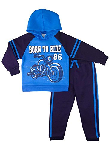 Infant & Toddler Boys Baby Outfit Born to Ride Motorcycle Hoodie & Sweats 4T - Motorcycle Kids Sweatshirt