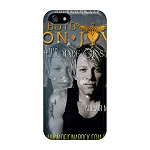Iphone 5/5s KZE9681ZDob Special Colorful Design Bon Jovi Image Bumper Hard Phone Cover -KellyLast