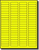"""1,600 Label Outfitters® Fluorescent Neon Yellow Color Laser Only Labels, 1.75"""" x 0.5"""", 20 Sheets Use Avery 5267 Label Template"""