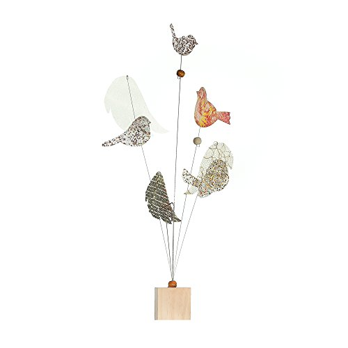 Butterfly Wings Postcard - Roser Life Photo Holder Tree Handmade Tabletop Picture Display Beige Gold Birds Wings Decor (Pack of 1)