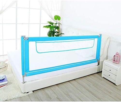 子供のためのベッドレールはツインベッドダブルクイーンとキングサイズのベッドに適し、ベッドレールバンパー、複数の色を折るとベッド手すりのサイズ (Color : Blue, Size : 1.9m)