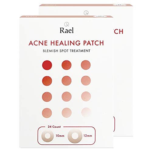 Rael Hydrocolloid Acne Pimple Healing Patch 2 Packs(Invisible, 48 count)