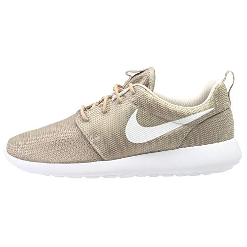official photos 1c39a e5876 Galleon - NIKE Womens Roshe One Low Top Lace Up, Khaki White-Oatmeal-White,  Size 9.5