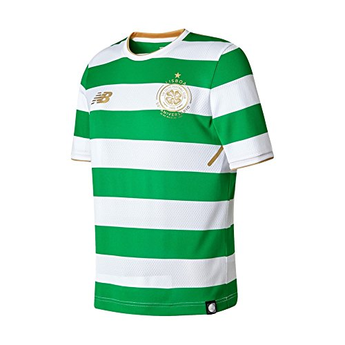 Celtic Jersey Home - New Balance Celtic FC Home Junior SS Jersey [White] (M)