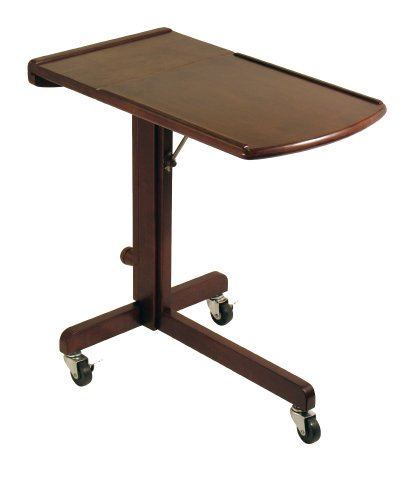 Winsome Wood Adjustable Laptop Cart/Table, Antique Walnut by Winsome Wood