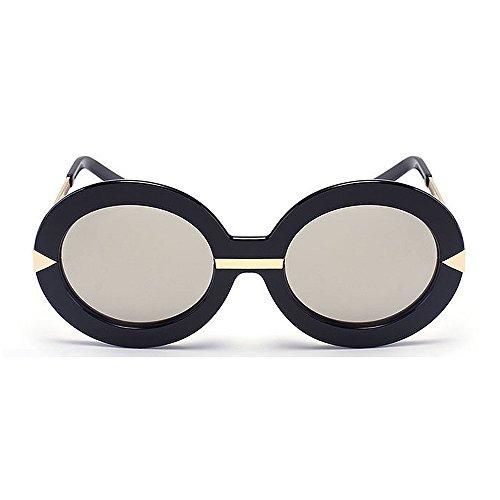 Sol Conducción Gafas Plata Vacaciones UV de de Color Peggy Las Gran de Grandes de al Forma Redonda Gu Libre Aire Unisex para la de Protección Tamaño la Azul w1ap5t