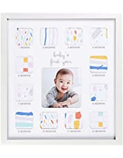 C.R. Gibson Baby's First Year Photo Frame with Milestone Stickers, 12'' x 13.25''