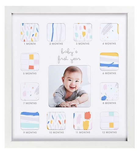 "C.R. Gibson Baby's First Year Photo Frame with Milestone Stickers, 12"" x 13.25"""
