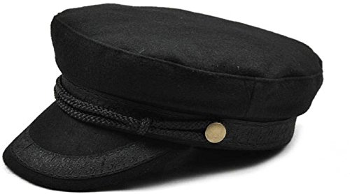 253812c824e Image Unavailable. Image not available for. Colour  Sarvoday military hat  winter knitted cap flat top hats for women black grey male female casquette