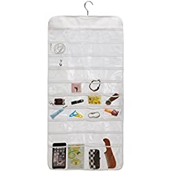 Closet Canvas Ultra 80 Pocket Hanging Jewelry Organizer (80)