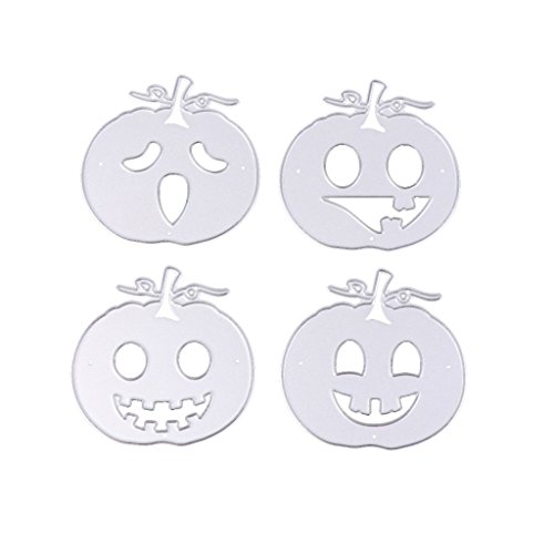 Feamos Pumpkins Die Cuts Creative Card Making and Papercrafting for DIY Carbon Steel Silver Halloween -