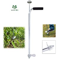 """Stand-Up Weeder and Root Removal Tool - Ergonomic Weed Puller with A 33"""" Tall Handle and Foot Pedal - Easy Weed Grabber Made from Rust-Resistant Steel - 3 Year Warranty"""