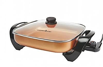 Copper Chef Electric Skillet - Buffet Server - For Steaming, Sauteing or Frying