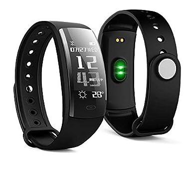 """DIGGRO QS90 Montre Bracelet Connectée IP67 Fitness 0.96"""" Ecran OLED - Noir"""