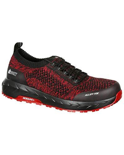 Shoes Black Toe Workknit Lx Rkk0249 Work Red Athletic Rocky Round Men's Fz7HX