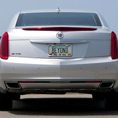 Cadillac XTS Brushed Stainless Steel Auto License Plate Frame Au-Tomotive Gold INC AG-GF-XTS-ES