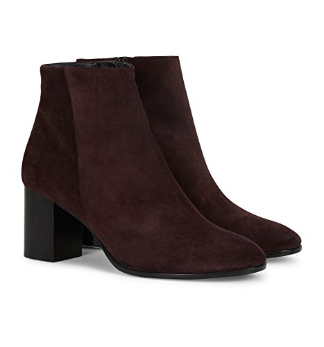 b4ballerinas Oxblood Suede Ankle Boots