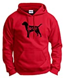 Dog Dad Gifts Labrador Retriever Love Dog Paw Prints Hoodie Sweatshirt Large Red