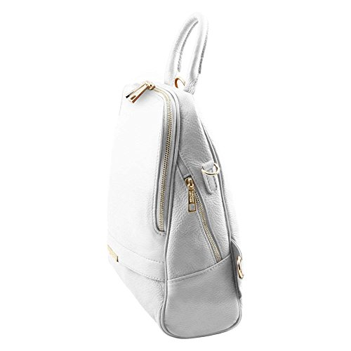 TUSCANY LEATHER TL141376, Borsa a spalla donna Bianco bianco compact